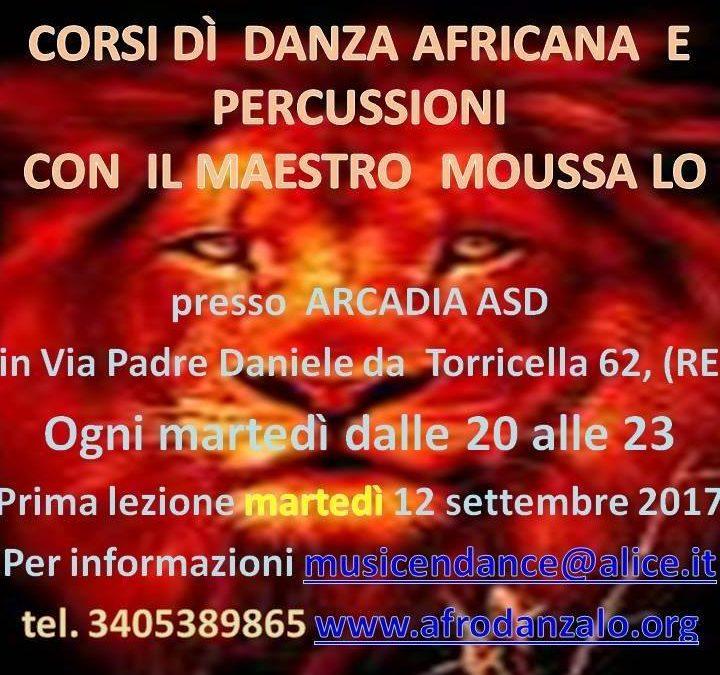 Corso di danza africana e percussioni
