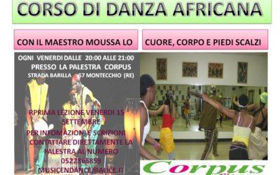 Corso di danza africana Montecchio Emilia