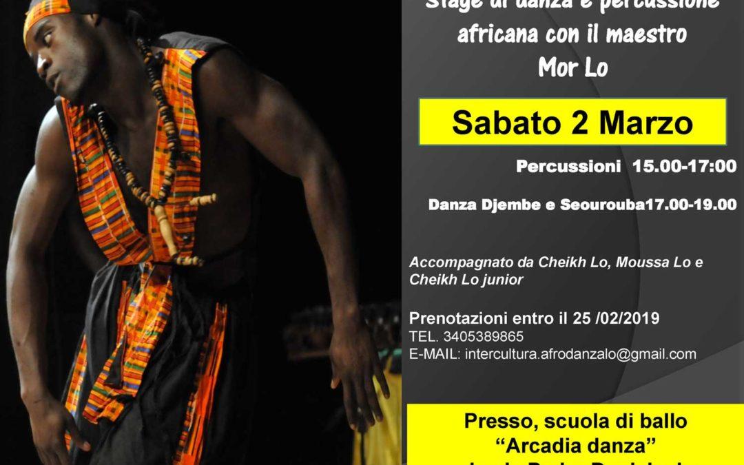 Stage di danza e percussione africana