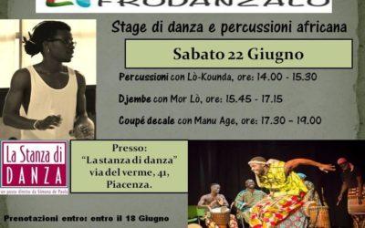 Stage di danza e percussione africana 22 Giugno