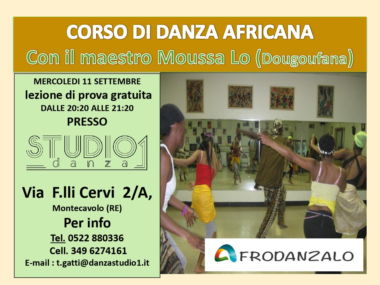 Corso di danza africana a Montecavolo – Mercoledì 11 settembre