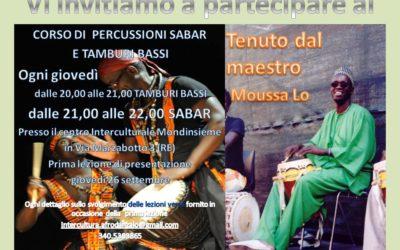 corso di percussioni sabar e tamburi bassi