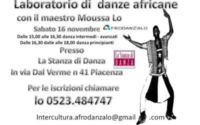 Laboratorio di danze africane 16 novembre 2019